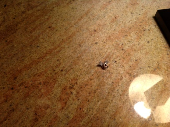 One officer found a bullet next to the Redditor's bed. This unfortunate guest was inches away from injury (or even death).