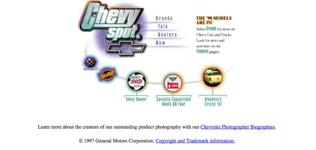 Did a Chevy fan create this site?