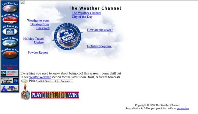 The Weather Channel's page might look better now, but that doesn't change the fact that it steers us wrong regularly.
