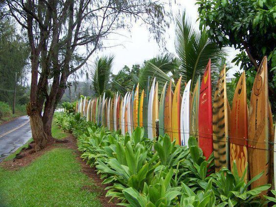 Live near the beach? This surf fence is perfect!