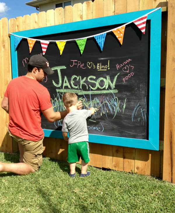 Turn your fence into a wall that your kids are <em>allowed</em> to write on!