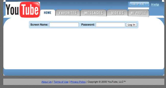 YouTube had a very different interface back in the day.
