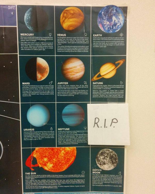 Here lies Pluto.