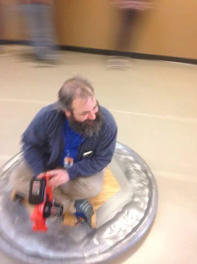 I'm kind of mad that none of my science teachers made hovercrafts.