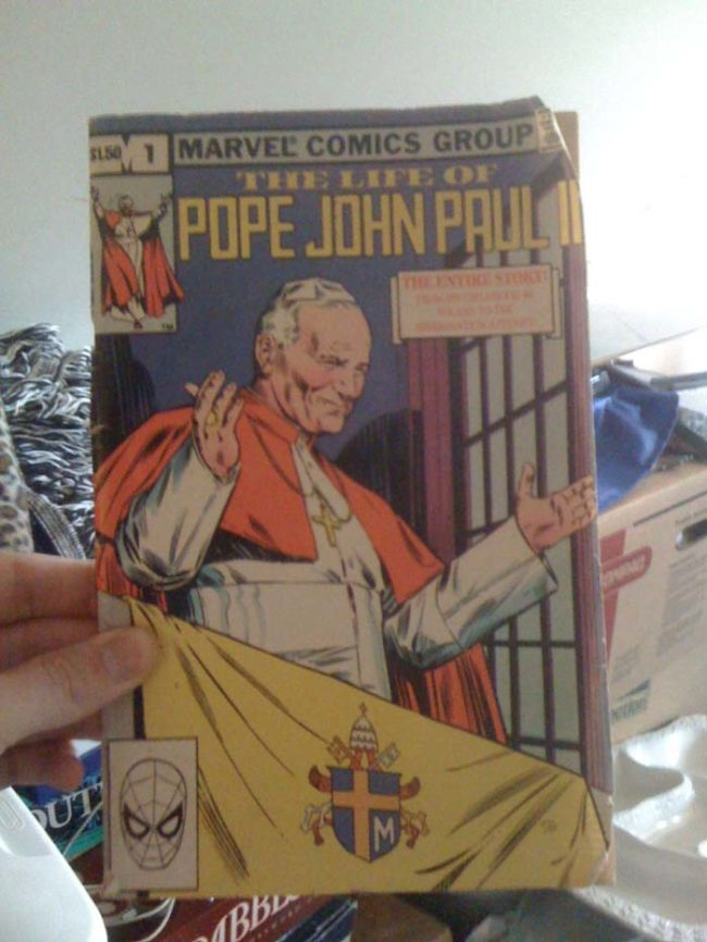Not everything found in the attic is terrifying. How about this old, rockin' comic book?