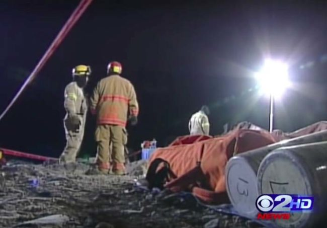 According to rescuers, the cause of his death was likely suffocation. The angle he was pinned at, they said, was such that it would have been extremely difficult to breath properly.