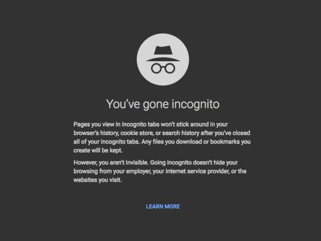 "Use an ""incognito"" window."