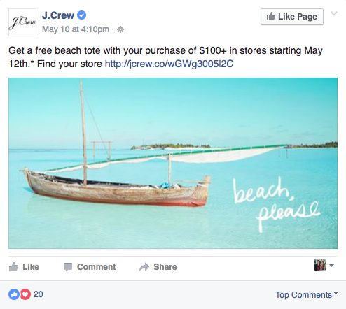 Follow stores on social media.