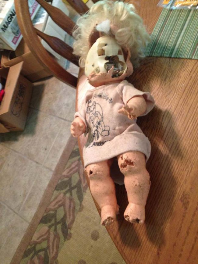 This is what your favorite doll looks like after spending 20 years in the attic.