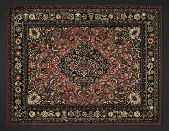 By tapping into Byzantine and Italian Renaissance motifs, she weaves paper rugs befitting of gallery walls.