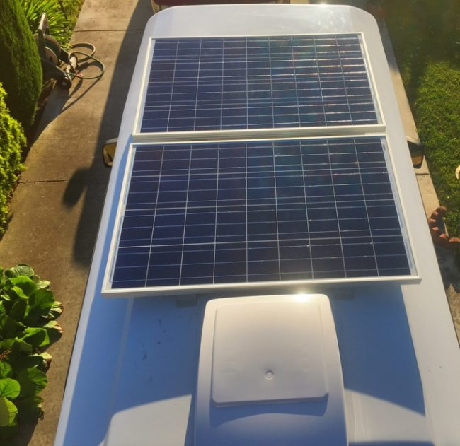 Solar panels help, too.