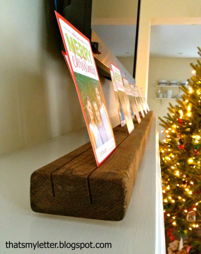 "This <a target=""_blank"" href=""http://thatsmyletter.blogspot.com/2012/12/c-is-for-card-holder.html"">easy holder</a> finally gives you a place to display all of your Christmas cards."
