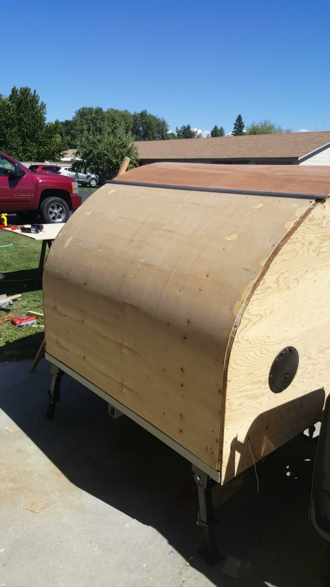 As the design started to wind down, he started working on the camper hatch.