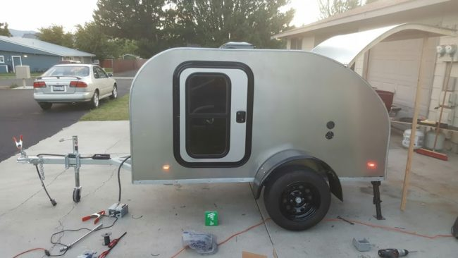 The final step was skinning the entire camper in aluminum.