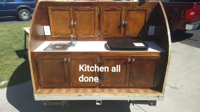 Adding a fresh coat of stain gave these cabinets a quick and easy overhaul.