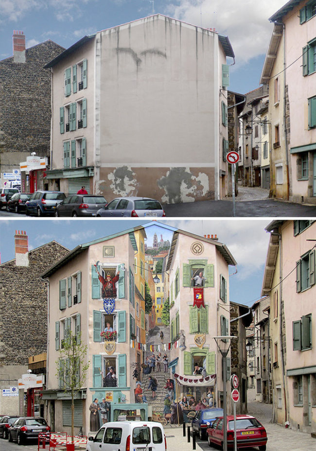 Upon completion of each new mural, city streets take on new life.