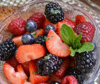 """Purists might prefer this fresh <a href=""""http://www.myfamilymealtime.com/2015/04/21/honey-lime-berry-salad/"""" target=""""_blank"""">honey lime berry salad</a>, though."""