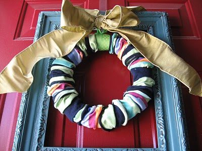 "Deck the halls with this ornate <a href=""http://www.favecrafts.com/Decorative-Wreaths/Sock-Wreath"" target=""_blank"">wreath</a>."