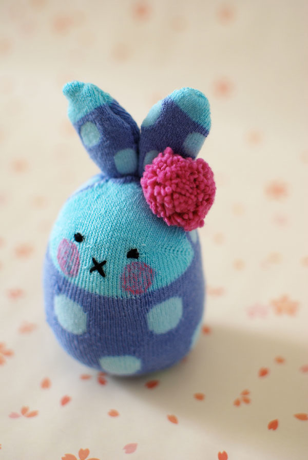 """Perhaps the Easter Bunny can include one of <a href=""""http://crafts.tutsplus.com/tutorials/how-to-make-easter-bunny-softies-from-socks--cms-20438"""" target=""""_blank"""">these</a> in your next basket?"""