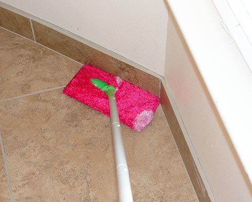 Never run out of Swiffer pads again. Just wrap an old sock around the end of the mop!
