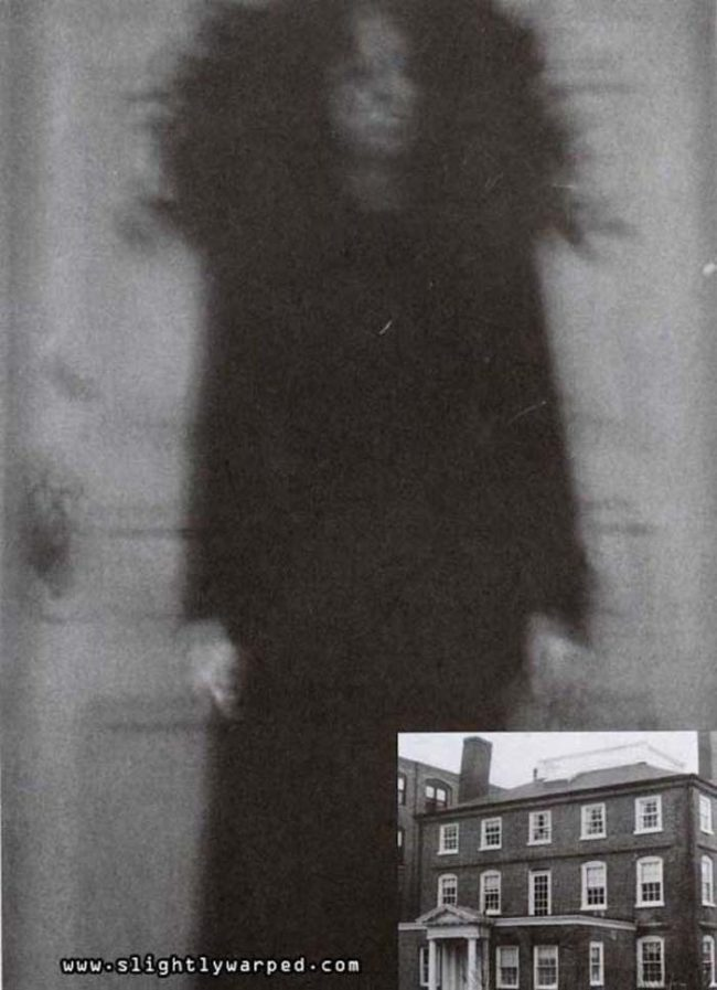 However, Corwin isn't the only ghost haunting the Ward House. There is also the spirit of a woman who was tortured and killed at the hands of Corwin. She has only been caught on film one time (pictured below), but you only need one photo to understand her true horror.