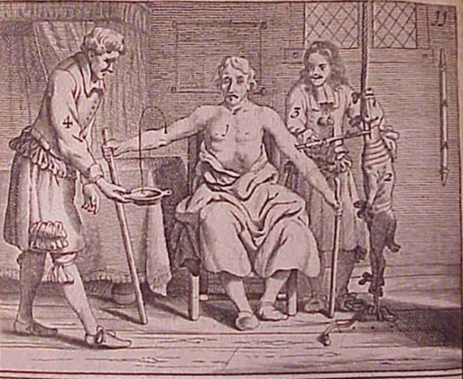 Despite Galen's scientific inaccuracies, bloodletting caught on and persisted as a common medical treatment until relatively recently. In much the same way that a sick person today might request antibiotics, back in the day, people requested bloodletting.