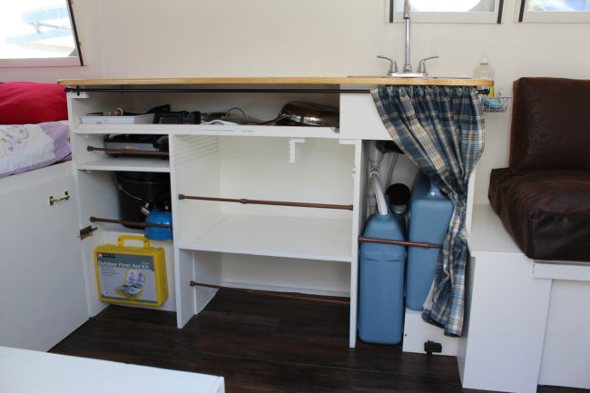 And there's even some storage space.