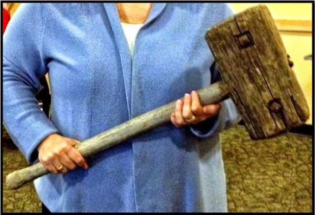 Someone in Vermont honestly thought they could board a plane with this giant wooden mallet.