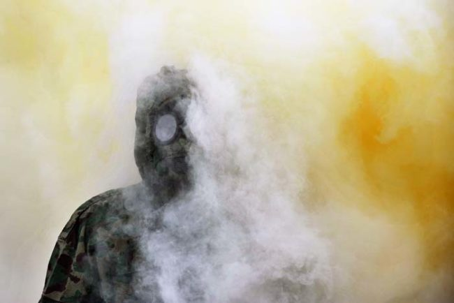 The bizarre fog operation was carried out with residents only receiving a few hours notice. The government informed them that the gas was not harmful to humans, but that it does smell quite strongly.
