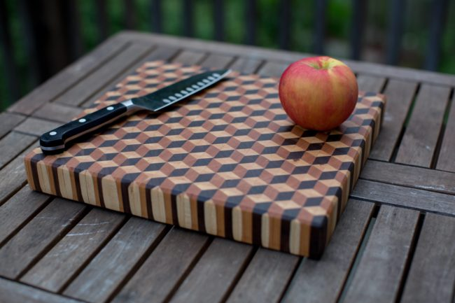 This cutting board is too pretty to use, but I think it's certainly a kitchen essential.