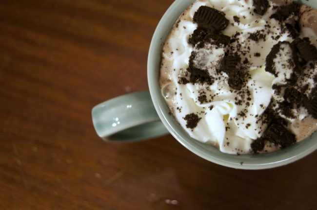 "<a href=""http://spoonuniversity.com/recipe/5-instant-hot-chocolate-upgrades/"" target=""_blank"">Oreo hot chocolate</a> will keep you warm on those cool fall nights."