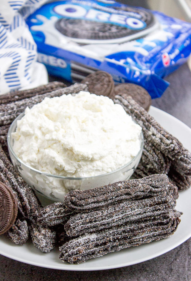 "These <a href=""http://dinnerthendessert.com/oreo-churros/"" target=""_blank"">Oreo churros</a> look too good to eat...but if you insist."