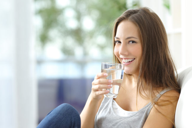"<a target=""_blank"" href=""http://www.active.com/nutrition/articles/the-many-wonders-of-water-6-reasons-to-drink-up"">Water</a> is your friend -- it boosts your energy, reduces stress, helps you eat less, and speeds up your metabolism."