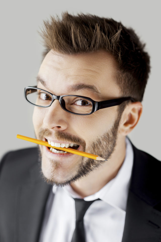 "An easy way to feel happier is to <a target=""_blank"" href=""https://www.psychologytoday.com/blog/isnt-what-i-expected/201207/try-some-smile-therapy"">hold a pencil</a> lengthwise between your teeth -- holding it  uses the muscles that make you smile, and smiling improves your mood."