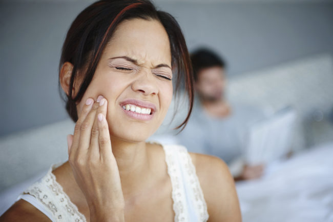 "Have a toothache?  <a target=""_blank"" href=""http://www.readersdigest.co.uk/health/health-a-z/aches-pains/how-to-relieve-toothache"">Rub some ice</a> on the back of your hand between your thumb and forefinger -- this will help reduce the pain."
