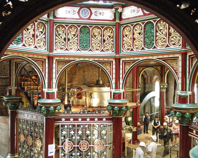 "Crossness was designed in an eclectic Victorian style that originated in Germany known as ""Rundbogenstil"" or round arch style."