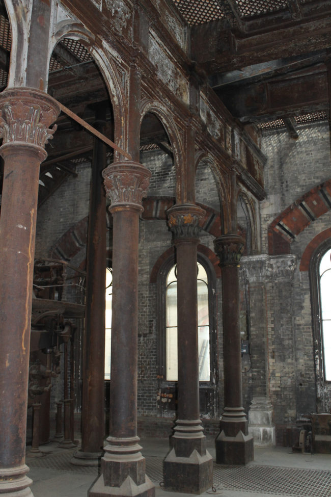 After shutting its doors, the pumping station became a prime target of vandalism. It sat empty for over 100 years.