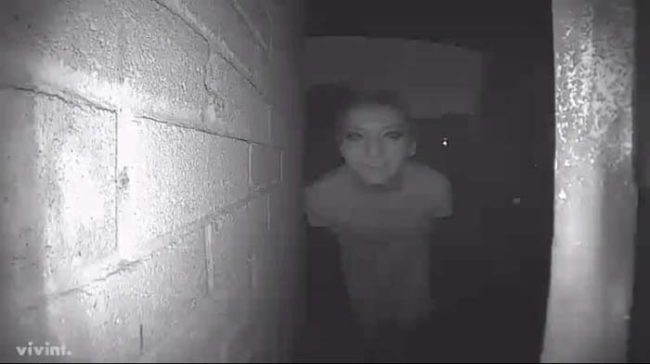 His smart doorbell also takes a snapshot each time it detects a visitor. This is one of the pictures it took. Terrifying, right? Looks like someone has a stalker.