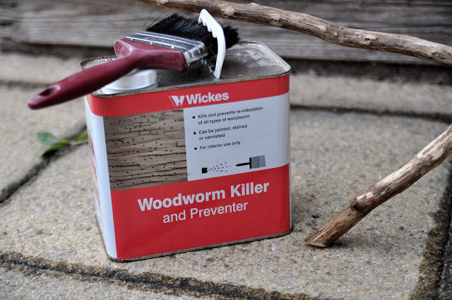 And to prevent worms from destroying the branch, they treated it with woodworm killer.