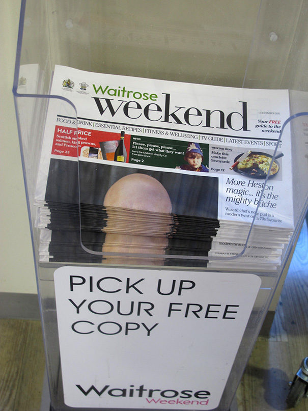 This is why you avoid putting bald men on the front page of a newspaper.