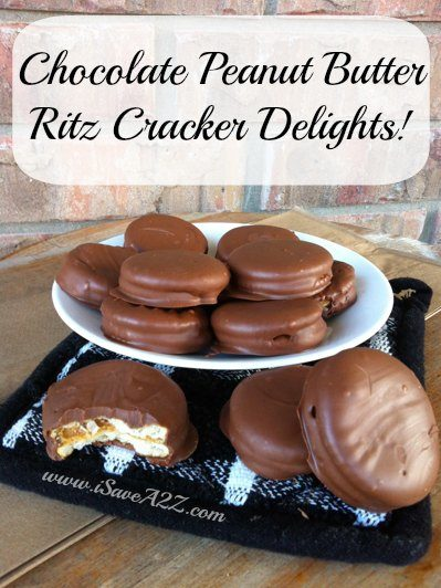 "<a href=""http://www.isavea2z.com/chocolate-peanut-butter-ritz-crackers/"" target=""_blank"">These</a> really do look delightful."