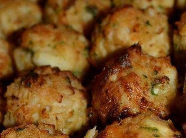 "Ritz-filled <a href=""http://www.justapinch.com/recipes/appetizer/seafood-appetizer/crab-balls.html"" target=""_blank"">crab balls</a> make the perfect appetizer for any event."