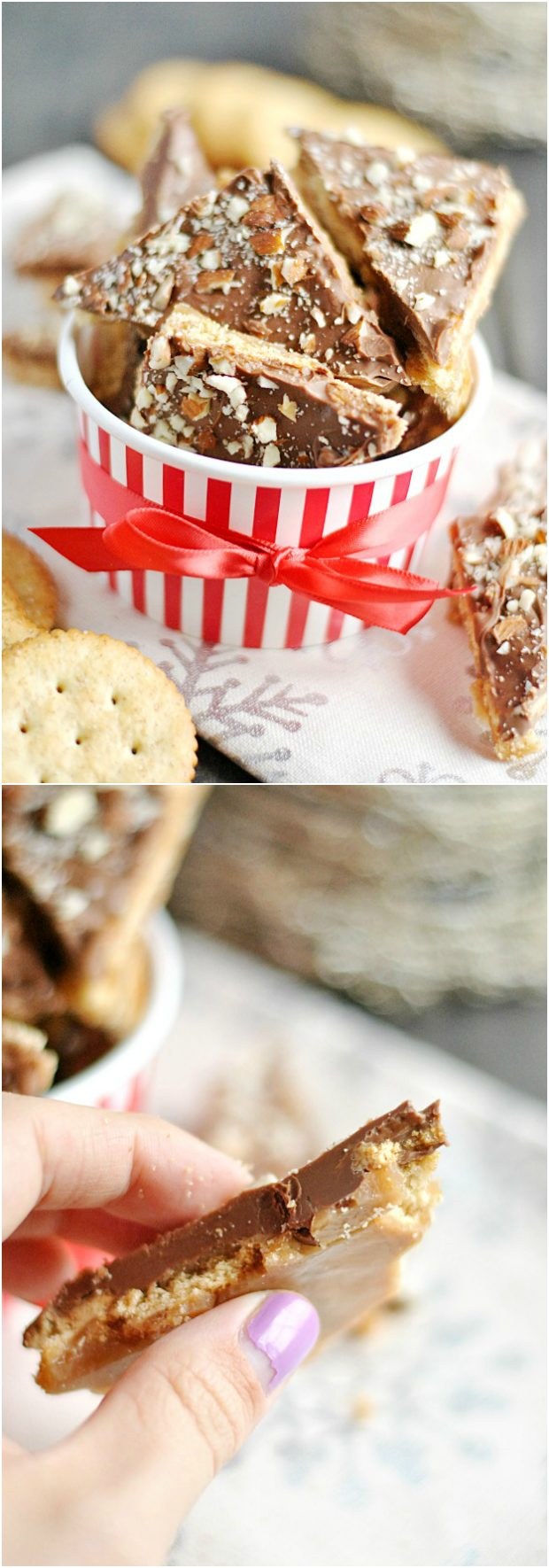 """I used to love making <a href=""""http://www.somethingswanky.com/ritz-cracker-toffee/"""" target=""""_blank"""">Ritz-filled toffee</a> growing up."""