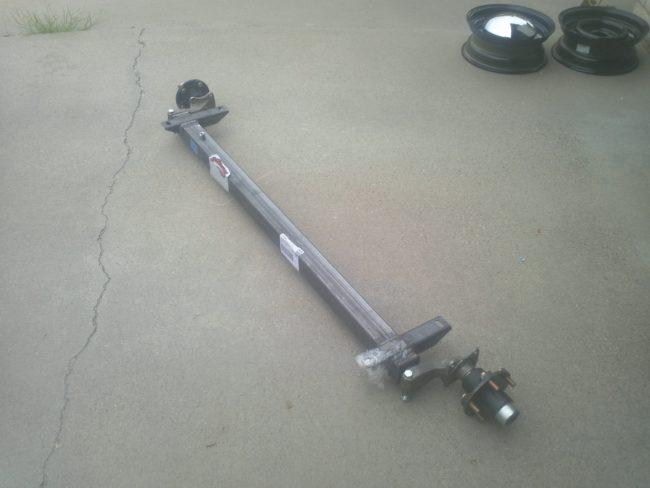 Marauder began by purchasing a Flexiride torsion axle.