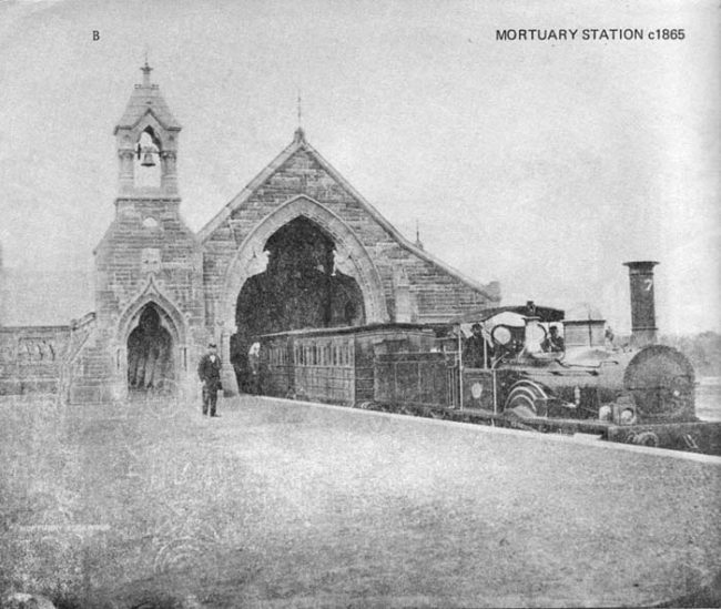 In the mid-1860s, Sydney opened the world's first funeral train station. At the time, the city's main cemetery, the Rookwood Necropolis, was located miles outside of the city center. The most efficient way to move bodies there was via train.