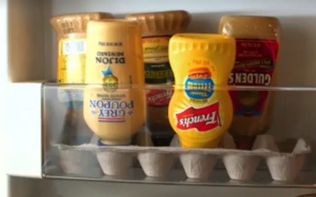 "Use <a target=""_blank"" href=""https://www.facebook.com/altonbrown/videos/1116845375011736/?hc_location=ufi"">egg cartons</a> to hold condiments upside down for easy squeezing!"