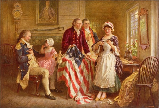 Betsy Ross created the first American flag.