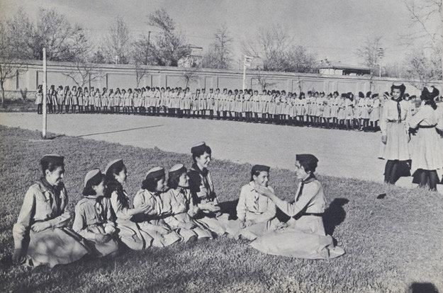 There were scout programs for girls and boys alike.
