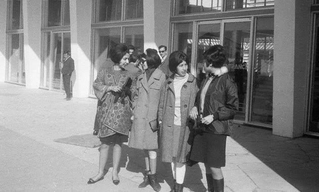 But in the 1960s, many styles were similar to what women wore in the States back then.