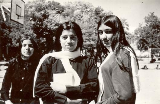 Today, Afghan women have to fight for their education.  But back then, attending high school was required.